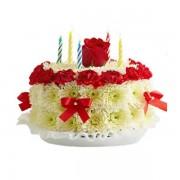 Торта с рози